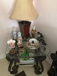Brown and white table lamp Miami, 33147
