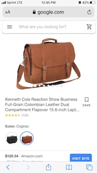 Kenneth Cole Reaction Colombian Leather Dual Compartment Flapover Sterling, 20164