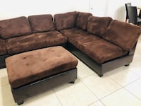brown and black sectional couch Las Vegas, 89121