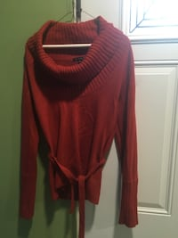 Women's red turtleneck sweater Bremen, 30110