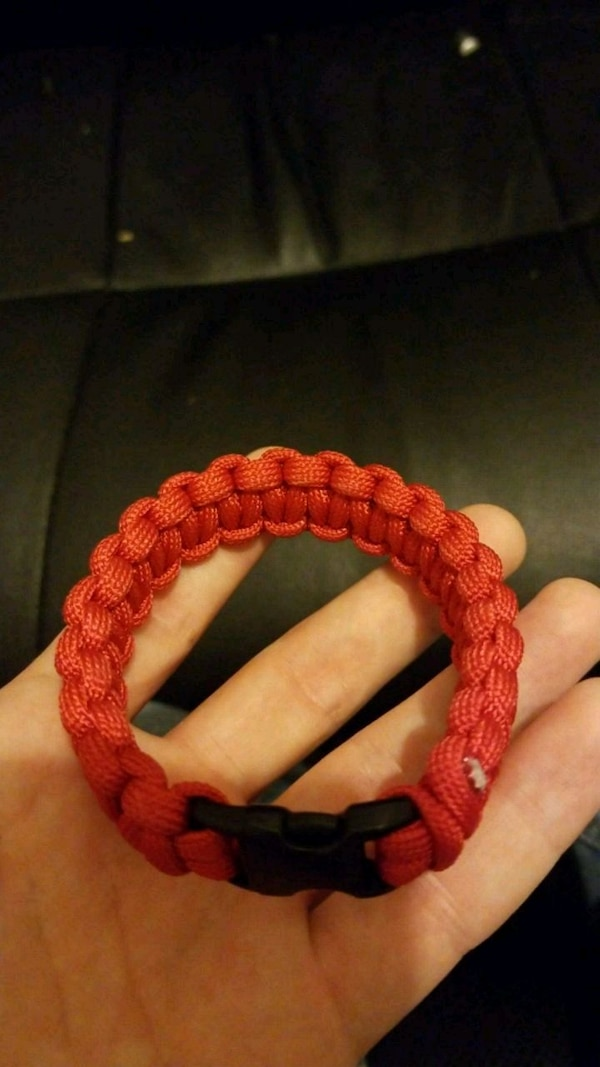red survival bracelet