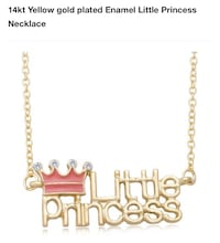 Gold plated children's necklace