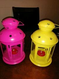 2 Lanterns for tealight, indoor/outdoor red, $3 each Calgary, T3G 1W8