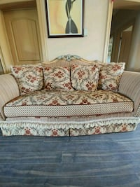 white and red floral sofa $1200 or best offer Toronto, M6N 1X7