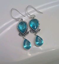 925 Blue Topaz Earrings Frederick, 21701