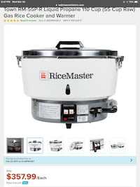 Propane fueled rice cooker