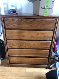 brown wooden 5-drawer tallboy dresser Washington, 20002