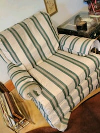 green and white striped fabric sofa chair Cleveland, 44109
