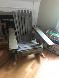 Foldable hand made Adirondack style rocking chair