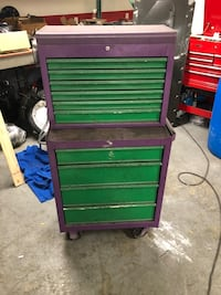 Green and purple tool cabinet Severn, 21144
