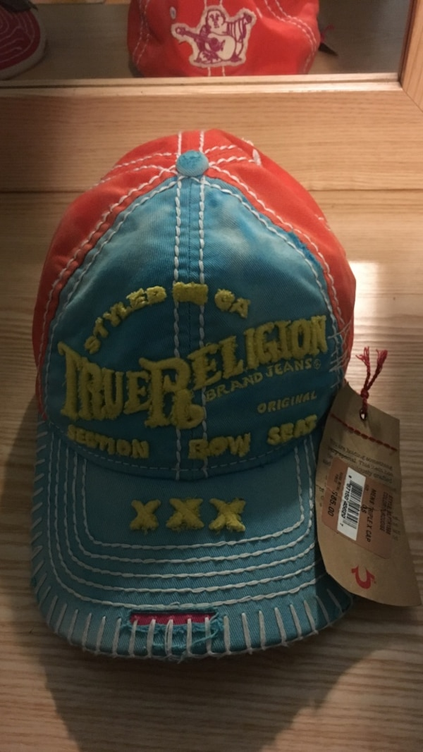 22d9bccc11a3c Used Blue and orange true religion cap for sale in Pittsburgh - letgo