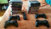 black Sony PS3 super slim console with controllers Lawrence, 01841