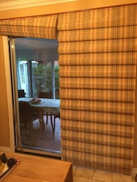 Patio door treatment with smaller one for kitchen window. Barrie, L4N 4R8
