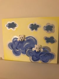 Kids baby room decoration painting