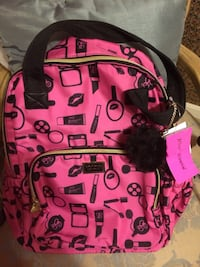 Pink and black Betsey Johnson new backpack Jessup, 20794