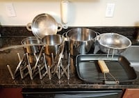 Stainless steel pots and sauce pans cookware set with other accessories Frederick