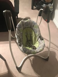 Baby's green, white, and gray portable swing New Westminster, V3L