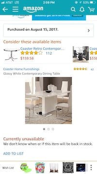 Glossy White Contemporary Dining Table & White Faux Leather Dining Chairs with Chrome (set of 4) Scottdale, 30079