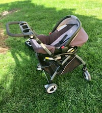 baby's black and gray stroller with carseat Colorado Springs, 80910