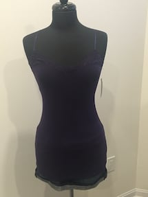 New dark purple lace tank size S