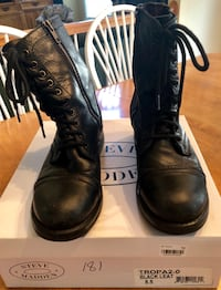 Steve Madden black combat boots women's size 8 Germantown, 20874