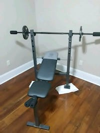 Weight bench with 10lbs on each side great starter New Orleans, 70119