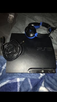 black Sony PS3 slim console with controller Sacramento, 95826