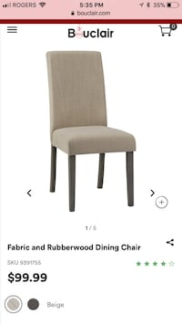 Dining Chairs (table not included) Centre Wellington, N1M 3H6