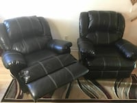 Black leather recliner 1 or both