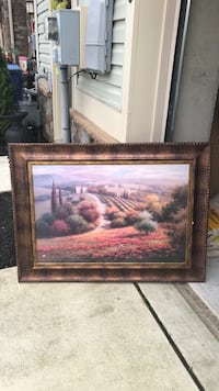 brown wooden framed painting of house Clarksboro, 08020
