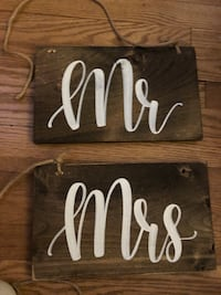 Wedding chair signs for sweetheart table