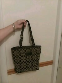 black and gray monogrammed Coach leather tote bag Hagerstown, 21740