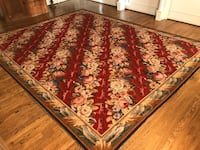 Beautiful 10'x12' needlepoint rug from KELLOGG COLLECTION. was under my dining room table so it is in wonderful condition. Purchased at Kellogg Collection in DC for $5,200!! Reds, golds, greens and blues in the floral design. Asking $900 or best offer   Potomac, 20854