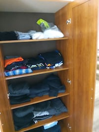 """clothes pantry with 4 shelfe 72 h x 30"""" w x 16 x d.. $90.00"""