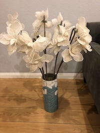 West elm vase with flowers