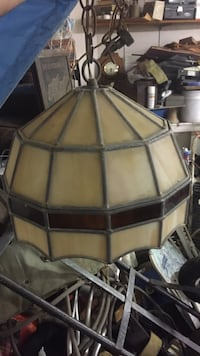 beige and brown stained glass pendant lamp East Lansdowne, 19050