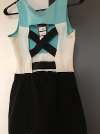 white and black sleeveless dress Montréal, H3C