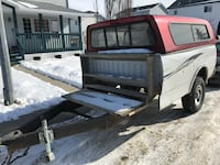 8 foot trailer with topper, asking $750.00 Airdrie