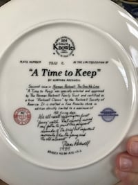 Norman Rockwell Collectors Plate - A Time to Keep  Ashburn, 20147