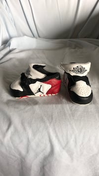 pair of white-and-black Nike basketball shoes San Diego, 92139