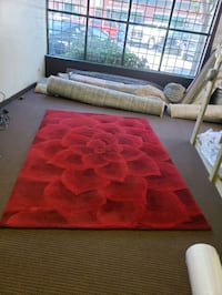 Pier1 Rose Tufted Collection. Red 6x9 Wool Rug