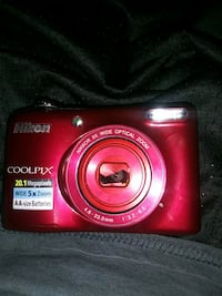 red Nikon Coolpix point and shoot camera Las Vegas, 89121
