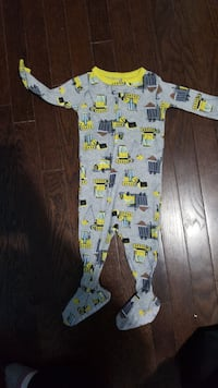 baby's gray and green footie pajama Courtland, N0J 1E0