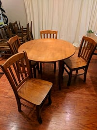 Solid wood drop leaf dining table & 4 chairs Arlington, 22202