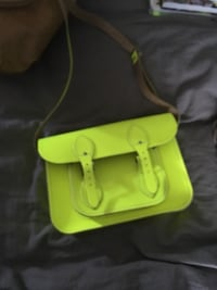 Real leather neon yellow purse Calgary, T2A