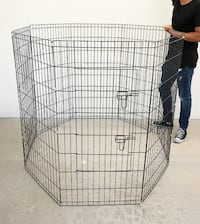 """New $45 Foldable 48"""" Tall x 24"""" Wide x 8-Panel Pet Playpen Dog Crate Metal Fence Exercise Cage South El Monte"""