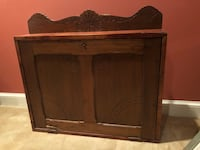 Antique wood wall desk. Circa 1800 32 km