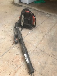 Black and red leaf blower