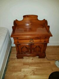brown wooden 2-drawer nightstand Montréal, H4G 1P1