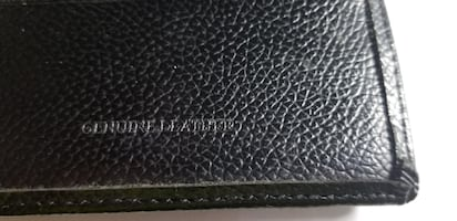 MEN'S Black Leather Wallet - Used